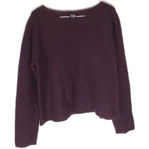 Eileen Fisher Mohair blend crop boxy sweater